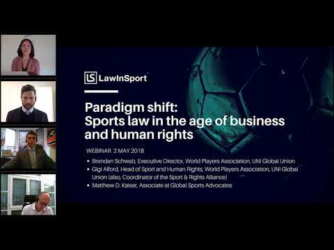 Paradigm shift: Sports law in the age of business and human rights - recorded roundtable discussion Mp3