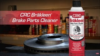 CRC BRAKLEEN® Brake Parts Cleaner Instructional Video