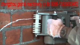 wall chaser/wall groove cutting  machine working video