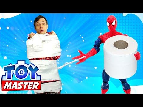Той Мастер, Человек-Паук иBeyblade против Мистерио— Битва дома уФедора— Видео для мальчиков