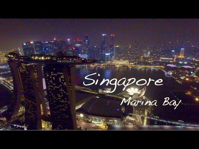 The Night of Singapore - Marina Bay drone video in 4K 新加坡濱海灣