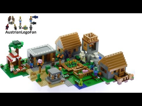 Lego Minecraft 21128 The Village - Lego Speed Build Review