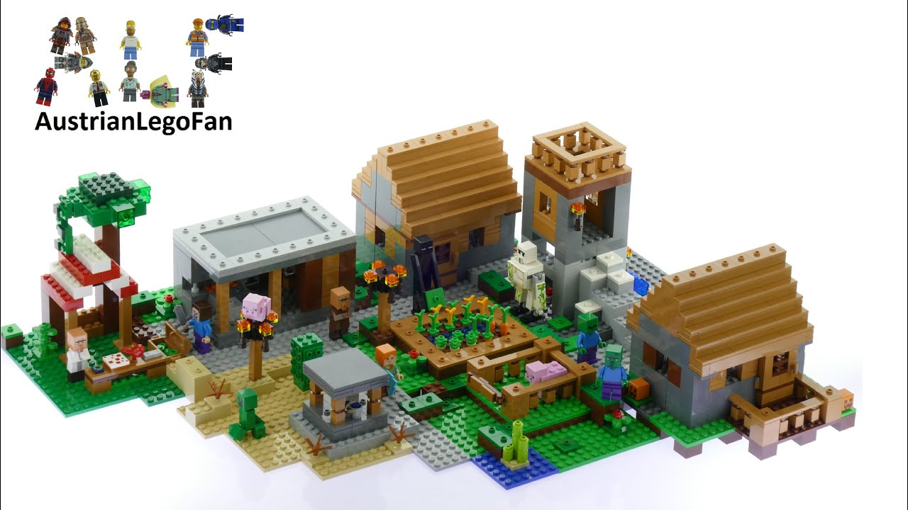 Lego Minecraft 21128 The Village Lego Speed Build Review Youtube