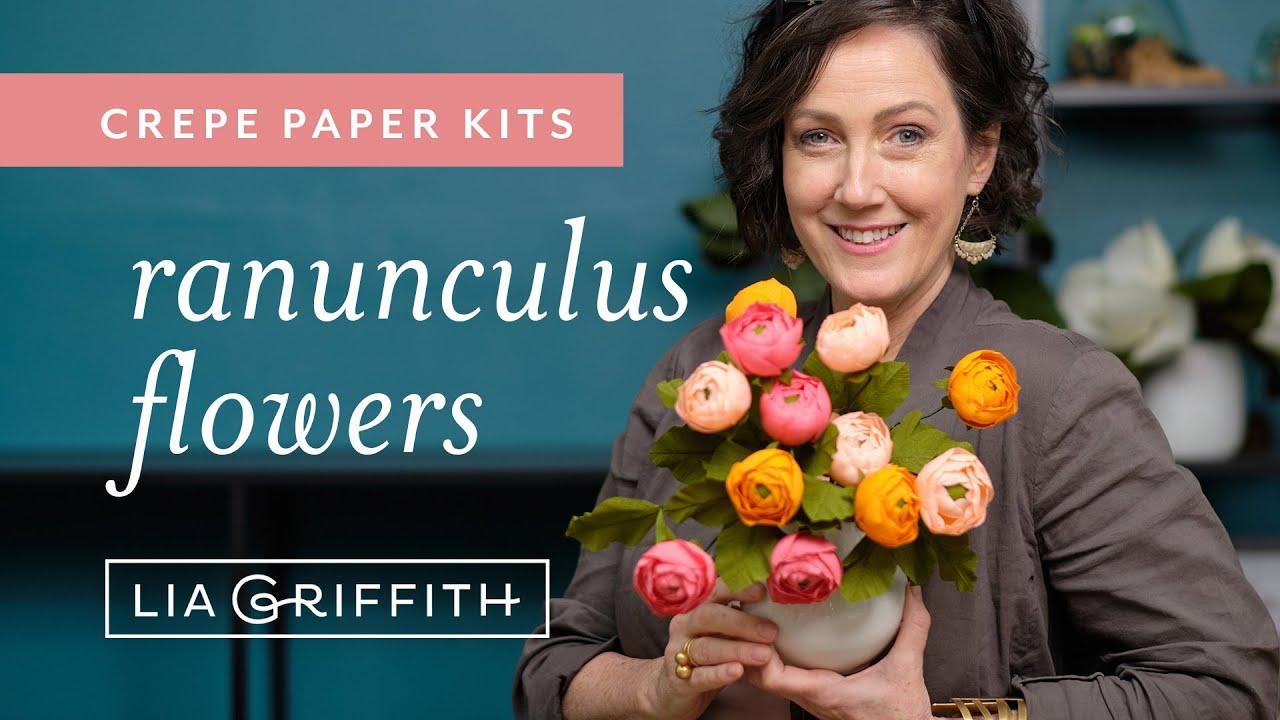 Video Tutorial: New Crepe Paper Ranunculus Kit