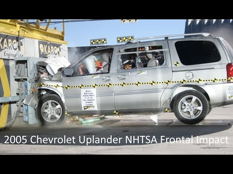 2005 Chevrolet Uplander / Saturn Relay / Pontiac Montana SV6 NHTSA Frontal Impact