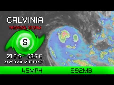 Cyclone Calvinia veers towards Mauritius - 6am MUT Dec 30, 2019