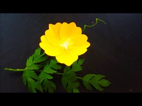 How To Make Attractive Origami Paper Flowers Easy Poppy   Flower Craft Ideas   DIY: