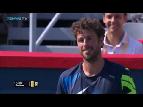FUNNY: Robin Haase leaves crowd in stitches during Roger Federer match | Coupe Rogers 2017