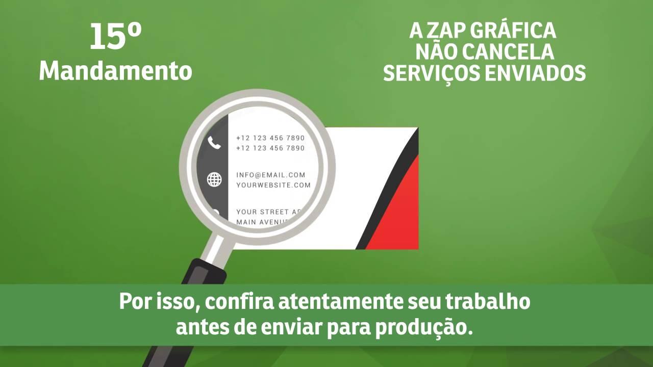 9c882638eb3 15° Mandamento da Arte - Zap Gráfica não cancela serviços enviados ...