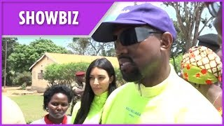 Kanye West and Kim Kardashian visit Ugandan orphanage to donate Yeezy sneakers