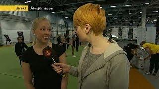 Cissi Wallin provar på cheerleading - Nyhetsmorgon (TV4)
