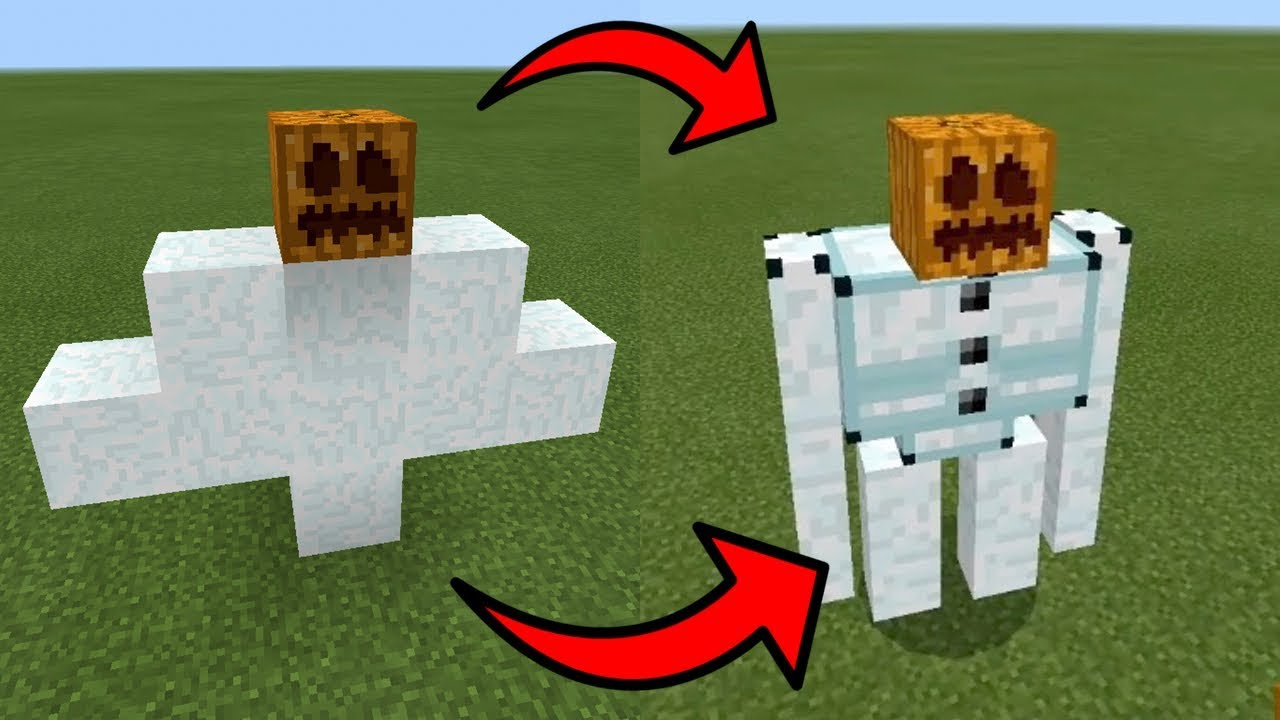 How To Spawn An ICE GOLEM In Minecraft PE YouTube - Skins para minecraft pe golem
