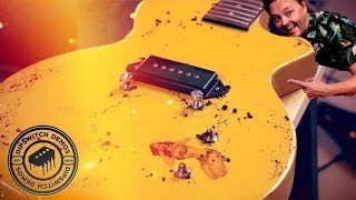 Cracking the lacquer on my Les Paul Jr... Danish Pete style!