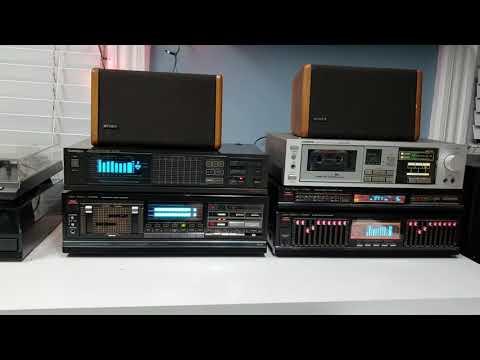 Vintage Stereo System Demonstration (Studio Standard By Fisher)