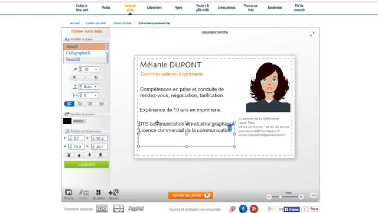 transformez une carte de visite traditionnelle en carte de visite mini curriculum vitae  cv