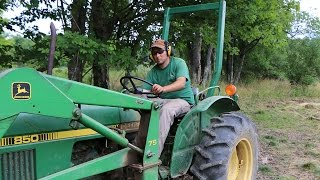 Plowing Deer Plot with John Deere 850 4x4 Tractor Using Ferguson Plow
