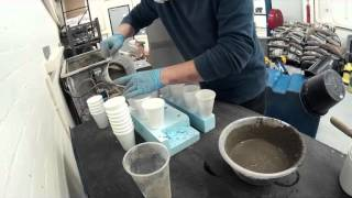 casting a concrete lamp : making a thin walled lamp shade with polystyrene cups