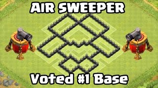 Clash of Clans Air Sweeper TH6 DEFENSE STRATEGY BEST CoC Town Hall 6 FARMING Layout Defense Strategy