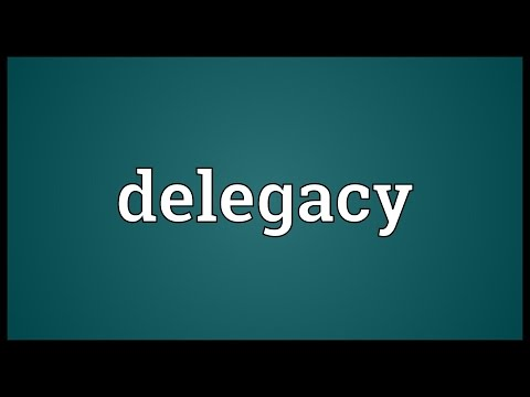 Header of delegacy