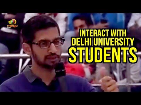 Google CEO Sundar Pichai Interact With Delhi University Students | Mango News