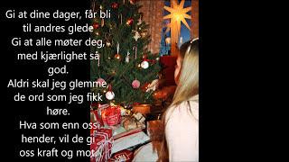 """""""Himlen i min favn/famn"""" med tekst/lyrics av Mina Forsback Johnsen 9 år, norsk versjon"""