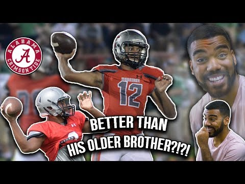 Tua Tagovailoa's Little Brother Has A CANNNON For An ARM!!!- Taulia Tagovailoa Highlights [Reaction]