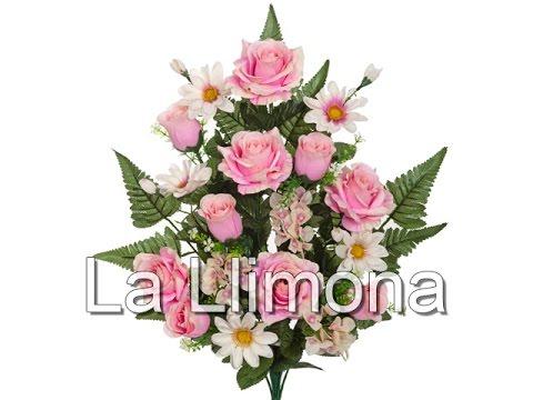 Ramos artificiales. Ramo artificial flores rosas y ...