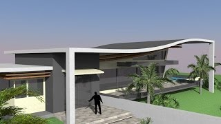 Google Sketchup Speed Build - Modern house 2