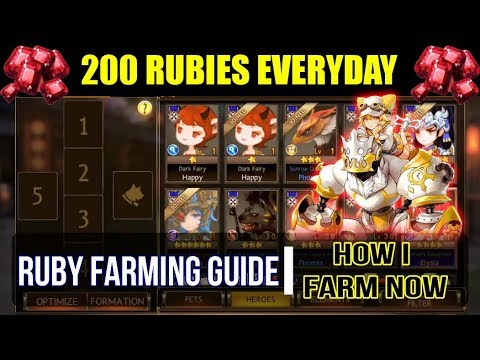 Seven Knights - RUBY FARMING GUIDE (How I Farm 200 Rubies Nowadays)