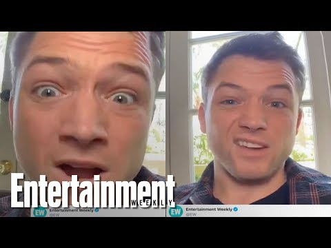 Taron Egerton Answers Your Twitter Questions On 'Rocketman' & More | Entertainment Weekly