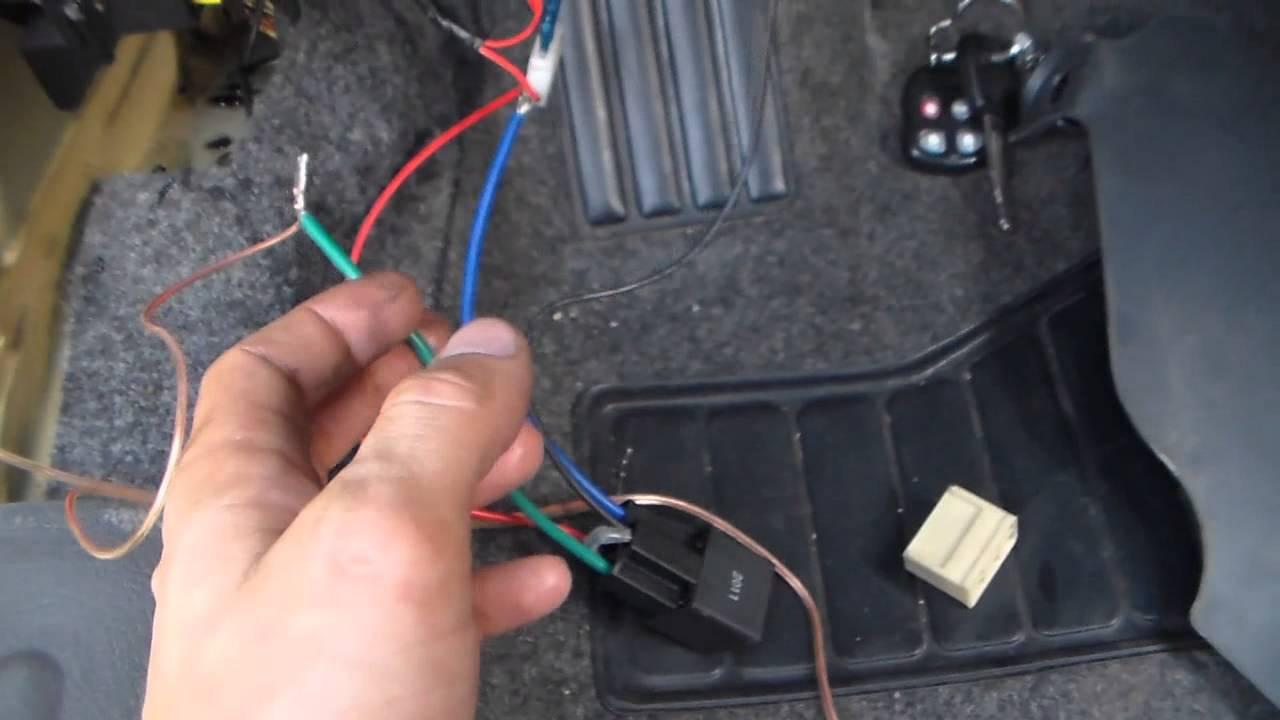схема подключения замка багажника от сигнализации