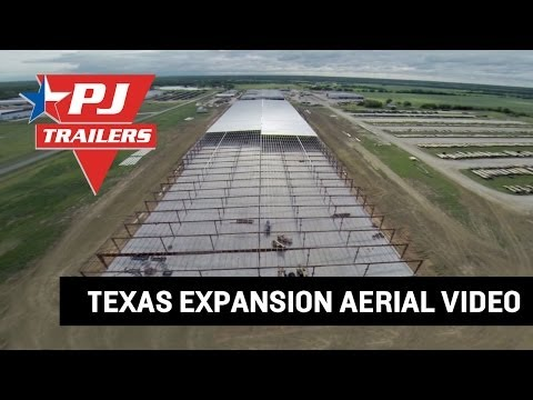 PJ Trailers Texas 8.26 Acre Expansion Progress Aerial Video