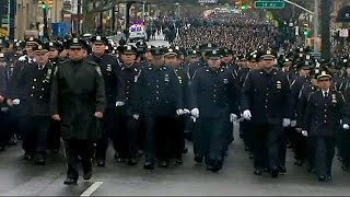 NYC mayor retaliates against NYPD officers' funeral snub