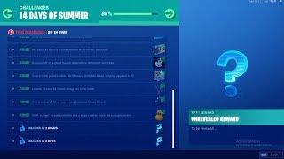 FORTNITE 14 DAYS OF SUMMER DAY 13 CHALLENGE! NEW FREE ITEMS!