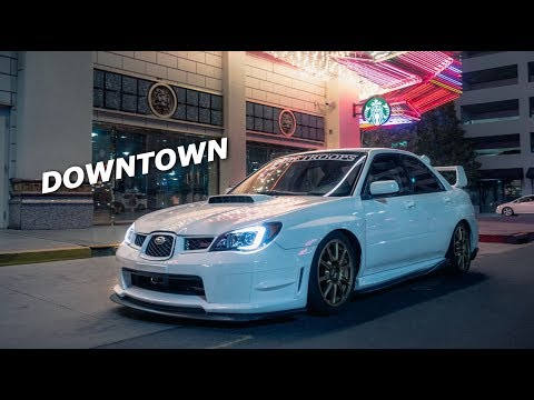 Subaru STI Night Cruising Downtown!