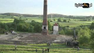 wyburzanie komina w Ugoszczy
