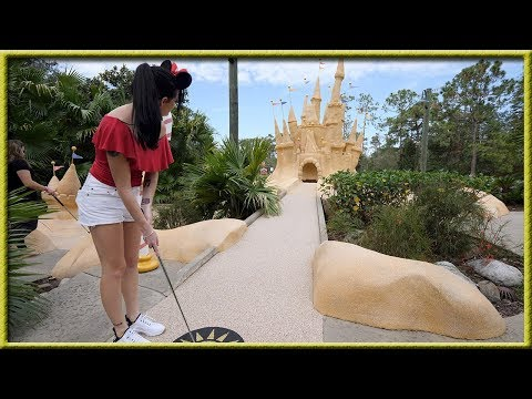 DISNEY WORLD HAS THE BEST MINI GOLF COURSES EVER! - CRAZY HOLE IN ONES!