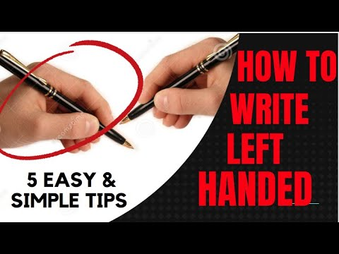 5 Easy and Simple Tips to Writing with Left Hand | Non-dominant Hand