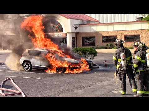 Little Falls Fire Department Multiple Car Fires Floyd Hall Arena 7-1-18