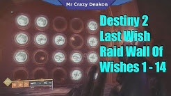 Destiny 2 Last Wish Raid Wall Of Wishes 1 - 14