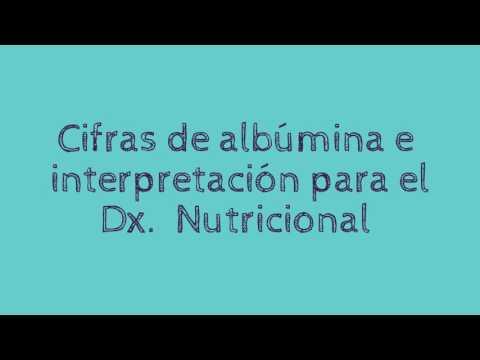 Albúmina Sérica (funciones, Valores Normales, Cifras Y Dx Nutricional)