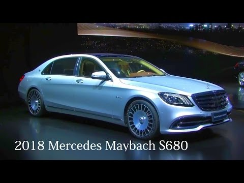 2018 Mercedes Maybach S680 and 2018 Mercedes Maybach S560 Preview On The Sanghai Auto Show In China