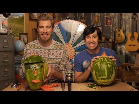 Carving Rhett & Link Watermelons