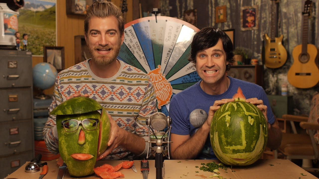 carving rhett link watermelons youtube