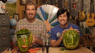 Carving Rhett & Link Watermelons