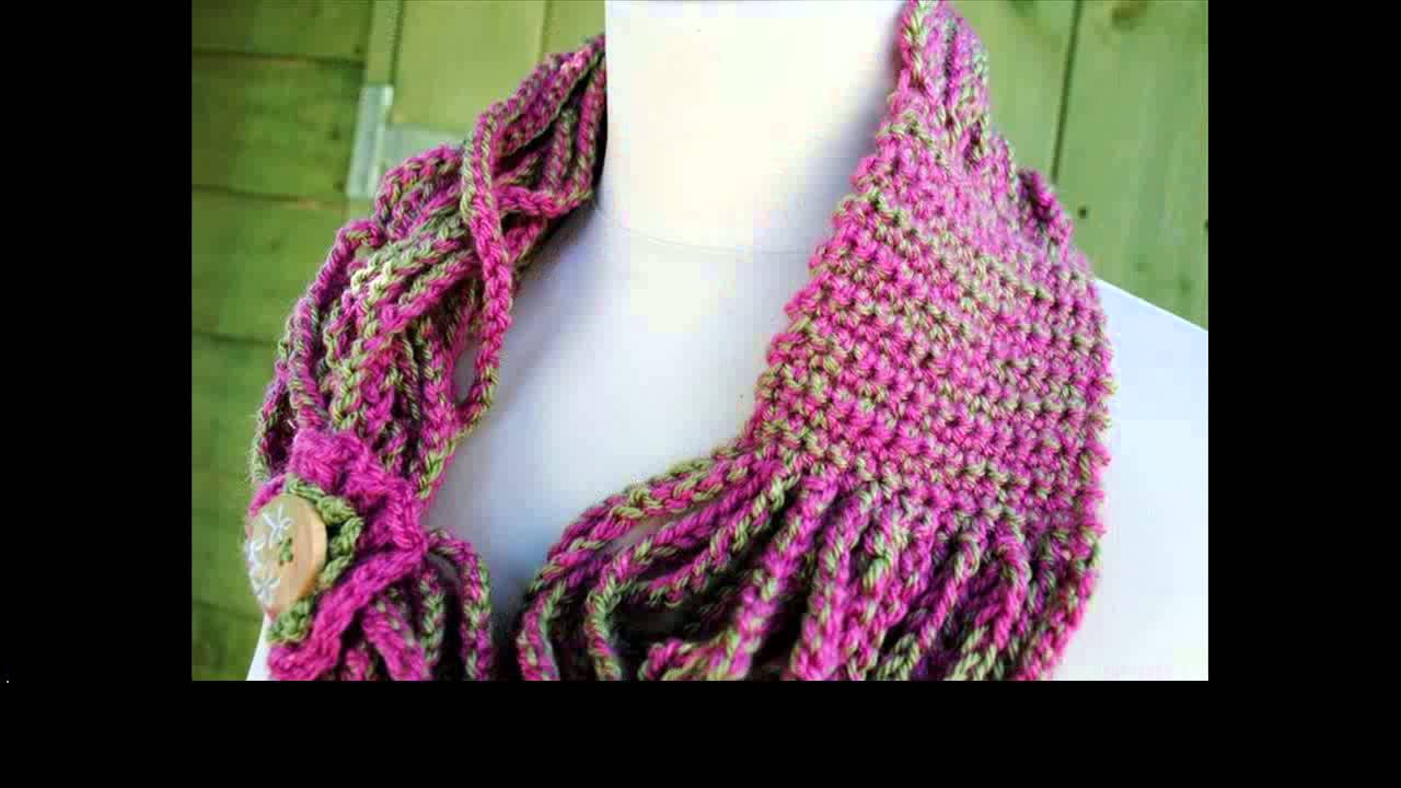 Crochet Hair Tutorial For Beginners : crochet scarf tutorial for beginners - YouTube