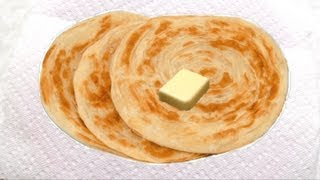 Malabar Parotta Recipe Video - Laccha Paratha or Kerala Parotta recipe   Layered Roti Recipe