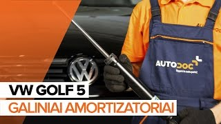 Kaip pakeisti Galiniai amortizatoriai VW GOLF 5 [PAMOKA]