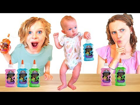 Our BABY Picks Our Slime Ingredients Challenge!!! WHAT?! ft THE NORRIS NUTS