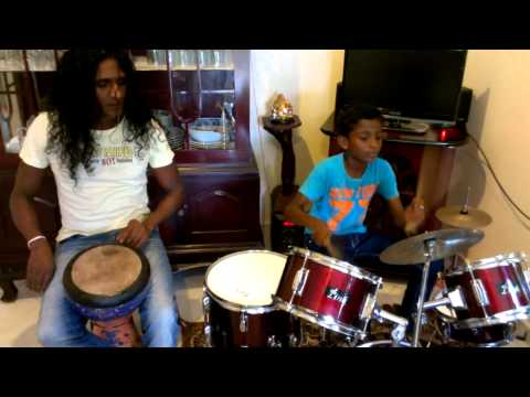 Elephant Foot- Father and son drum session for fun